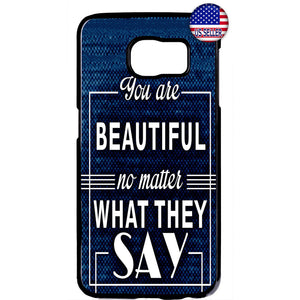 You are Beautiful Quote Rubber Case Cover For Samsung Galaxy
