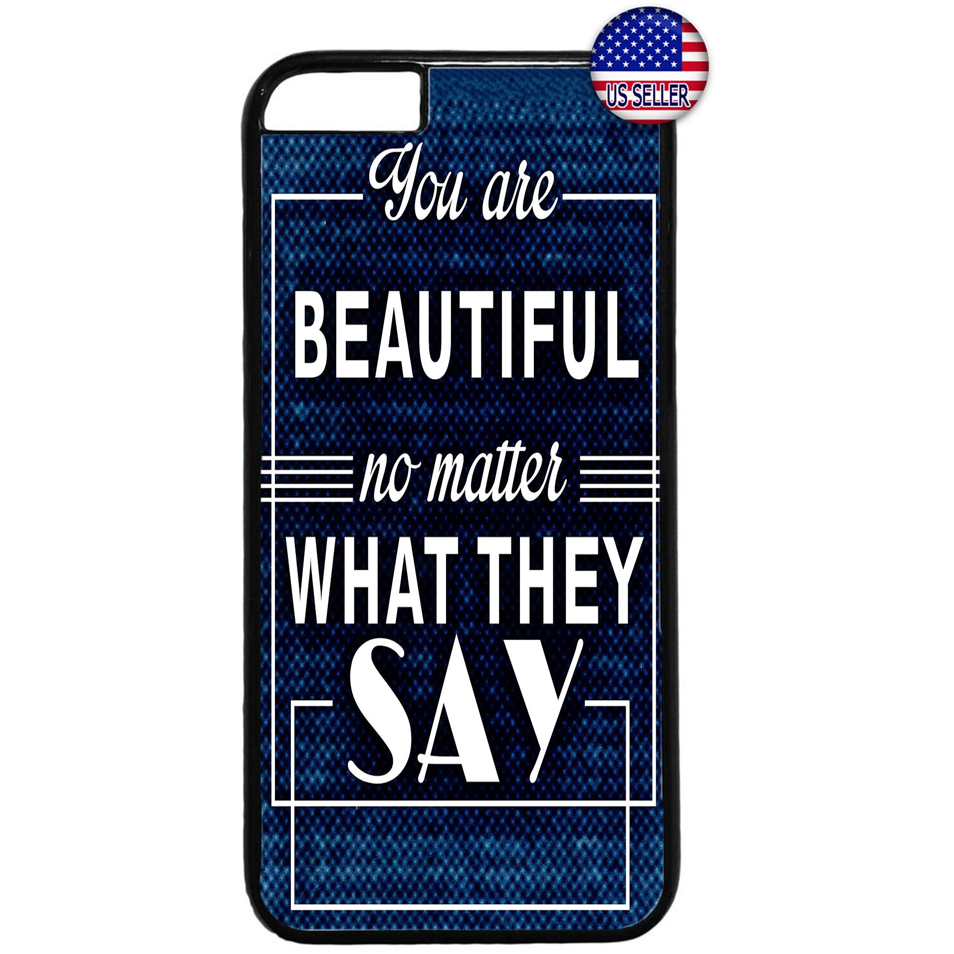 You are Beautiful Quote Rubber Case Cover For Iphone