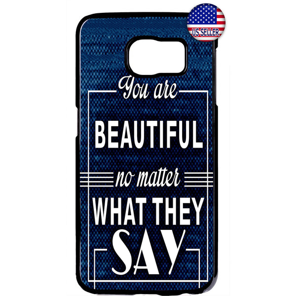 You are Beautiful Quote Rubber Case Cover For Samsung Galaxy Note