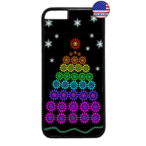LGBT Gay & Lesbian Merry Christmas Tree Rubber Case Cover For Iphone