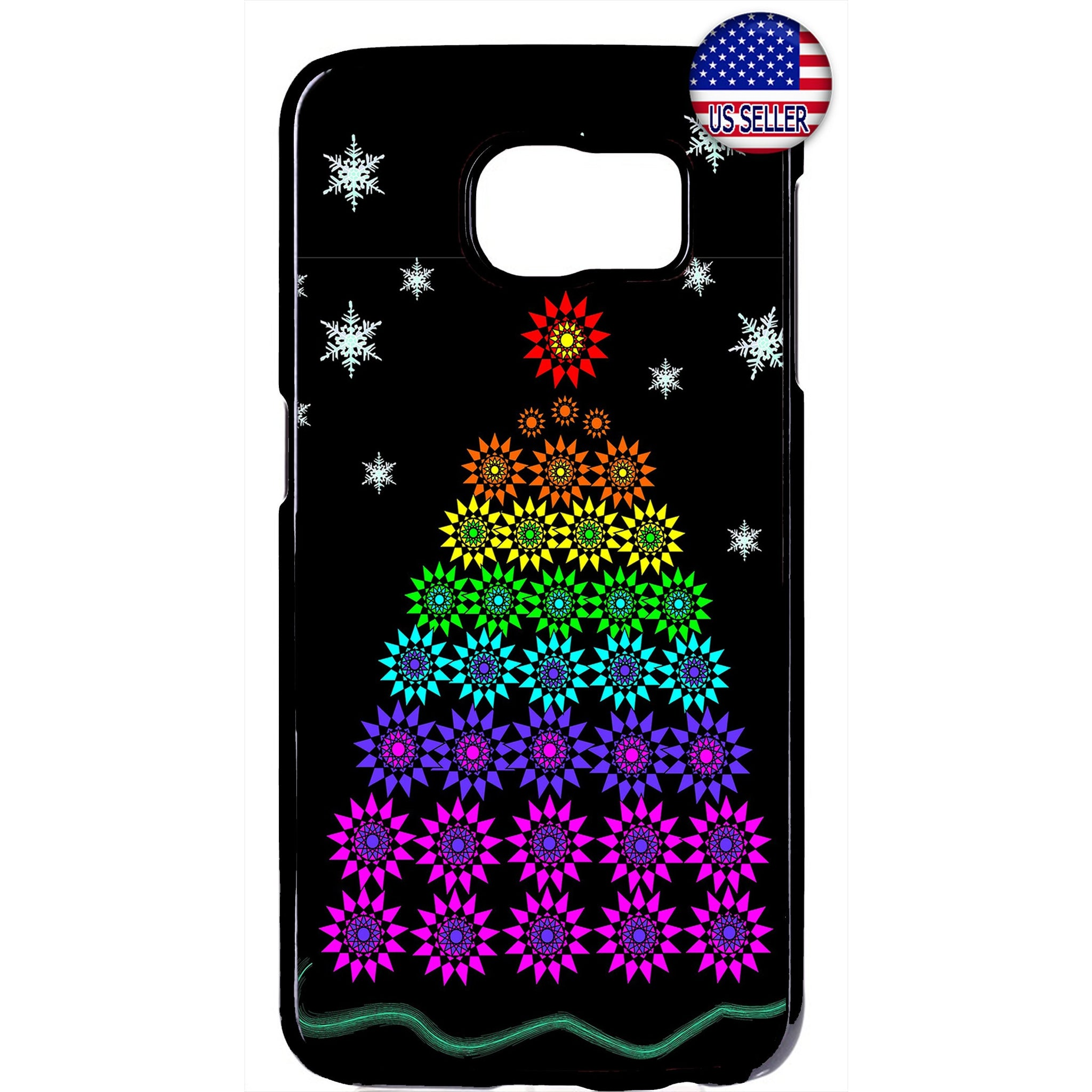 LGBT Gay & Lesbian Merry Christmas Tree Rubber Case Cover For Samsung Galaxy