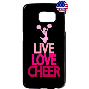 Live Love Cheerleader Rubber Case Cover For Samsung Galaxy