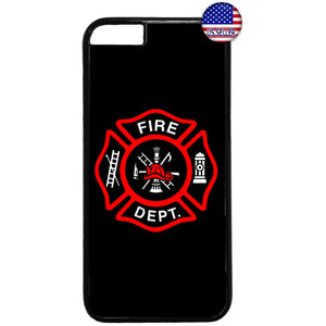 Fire Rescue Firefighter Fire Dept. Rubber Case Cover For Iphone