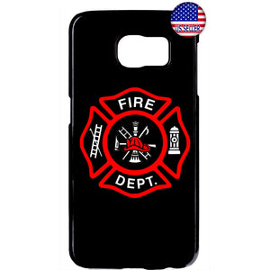 Fire Rescue Firefighter Fire Dept. Rubber Case Cover For Samsung Galaxy