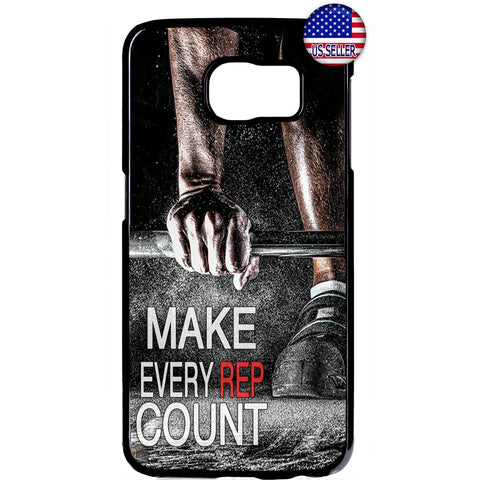 Make Every Rep Count Gym Rubber Case Cover For Samsung Galaxy Note