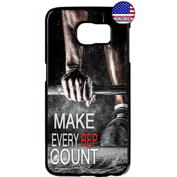 Make Every Rep Count Gym Rubber Case Cover For Samsung Galaxy