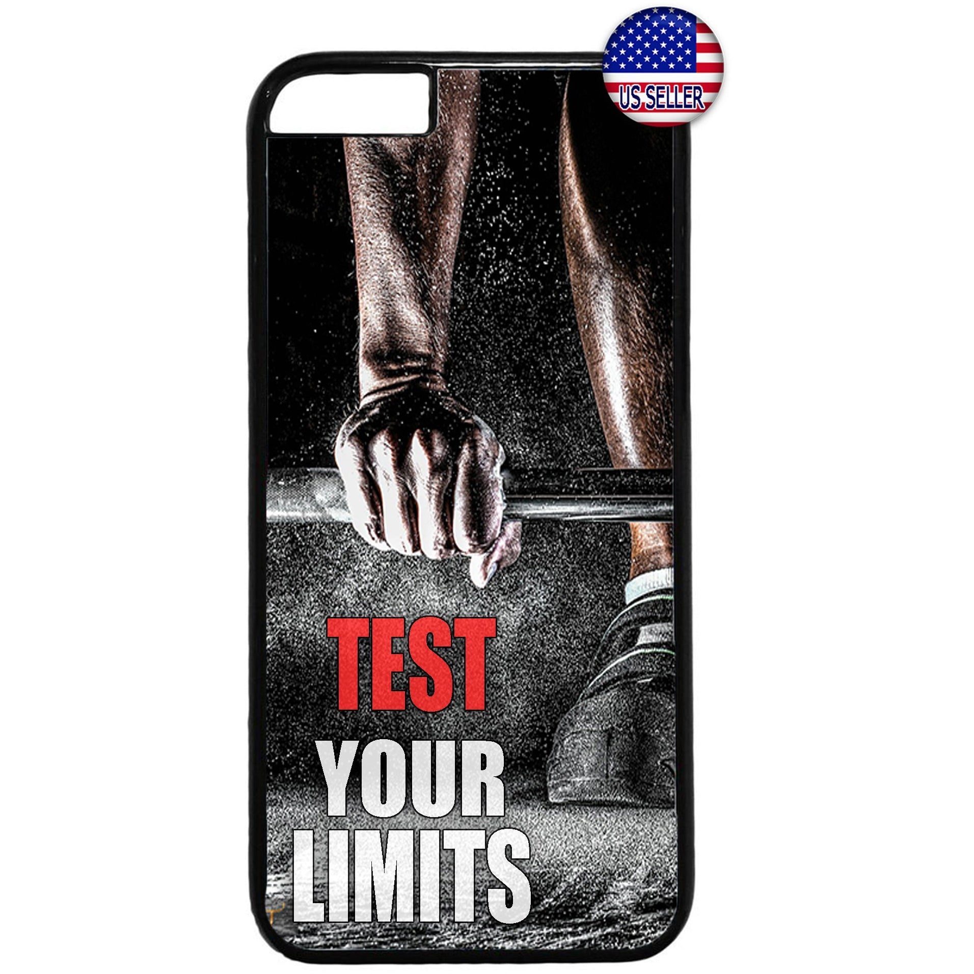 Test Your Limits Workout Rubber Case Cover For Iphone