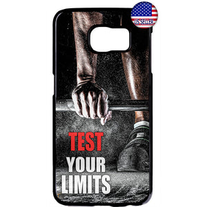 Test Your Limits Workout Rubber Case Cover For Samsung Galaxy
