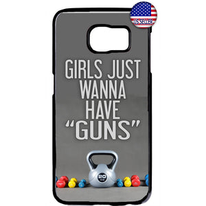 Girls With Guns Gym Workout Rubber Case Cover For Samsung Galaxy