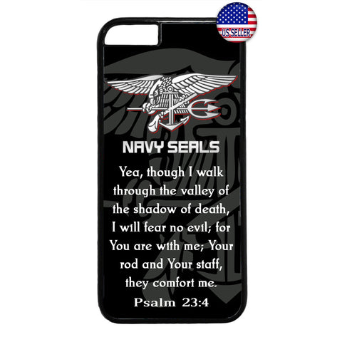 US Navy Seals Silver Military Forces Rubber Case Cover For Iphone