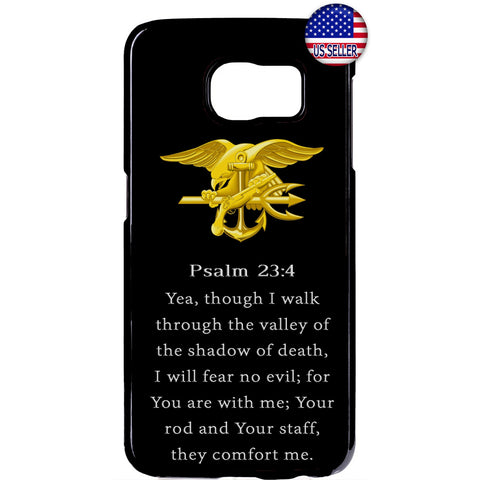 US Navy Seals Gold Bible Military Forces Rubber Case Cover For Samsung Galaxy