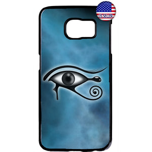 Teal Illuminati Horus Eye Rubber Case Cover For Samsung Galaxy Note
