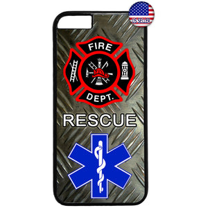 Fire & Rescue department First Responders Rubber Case Cover For Iphone
