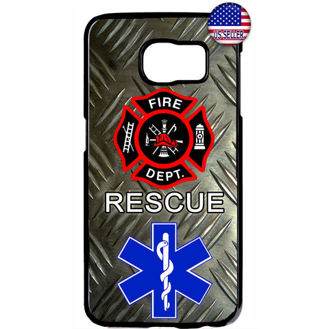 Fire & Rescue department First Responders Rubber Case Cover For Samsung Galaxy