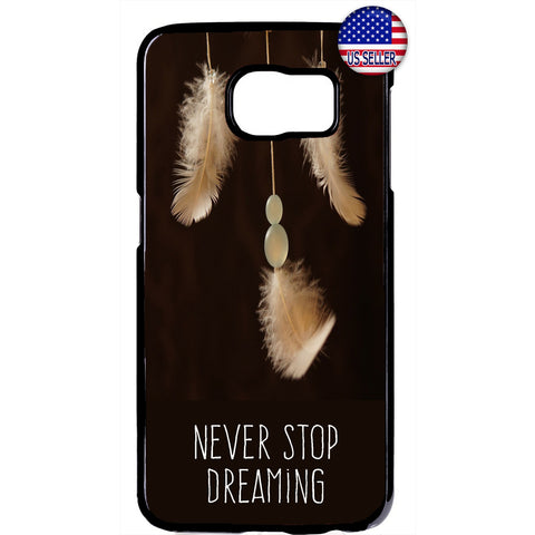 Never stop Dreaming Dreamcatcher Rubber Case Cover For Samsung Galaxy Note