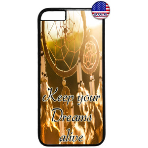 Keep your Dream Alive Dreamcatcher Rubber Case Cover For Iphone