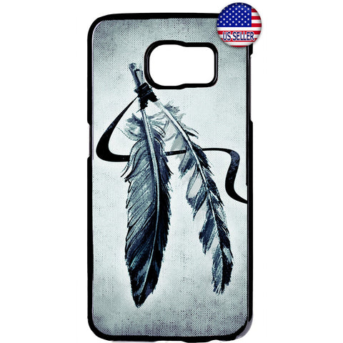 Indian Feathers Dreamcatcher Rubber Case Cover For Samsung Galaxy Note