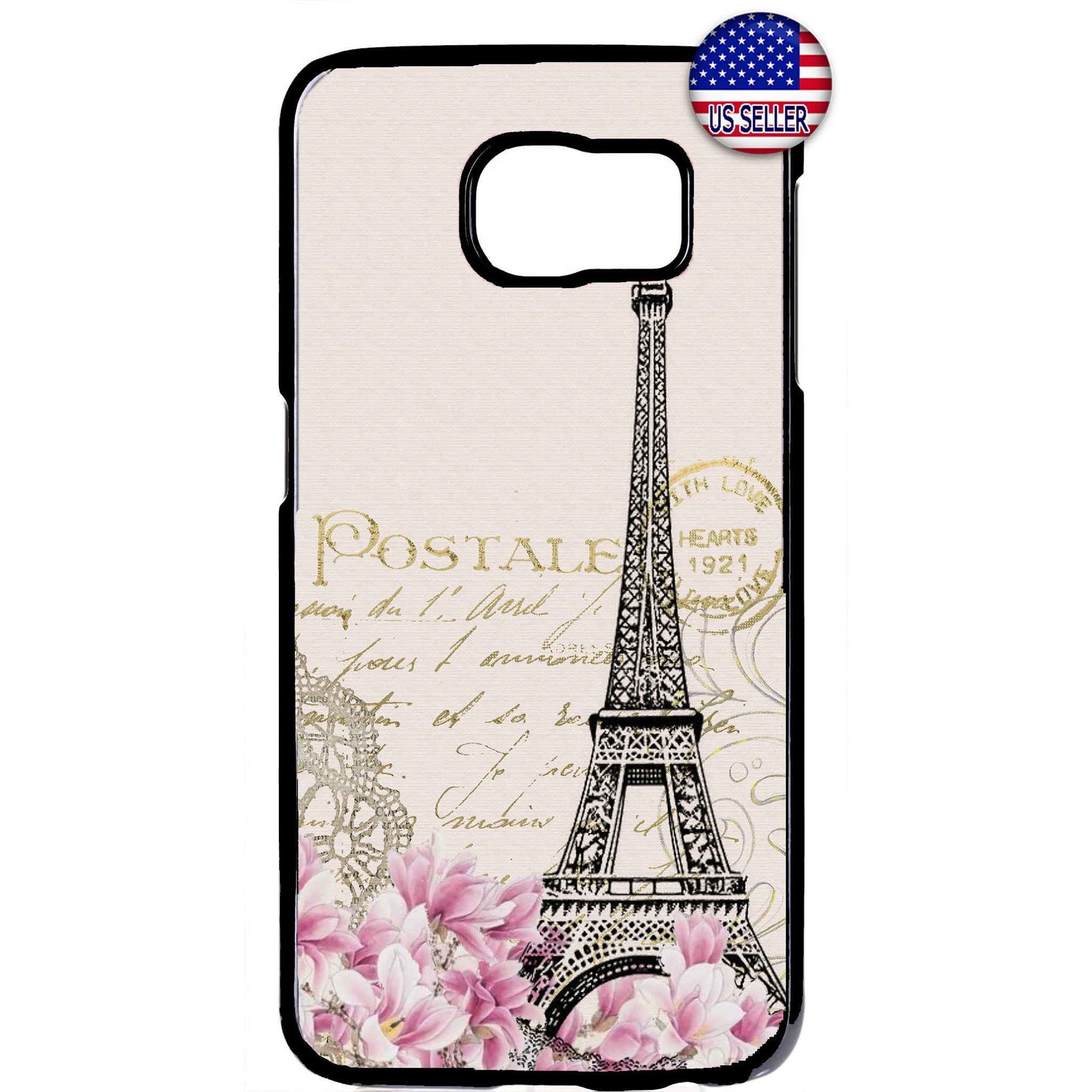 Vintage Eiffel Tower Rubber Case Cover For Samsung Galaxy