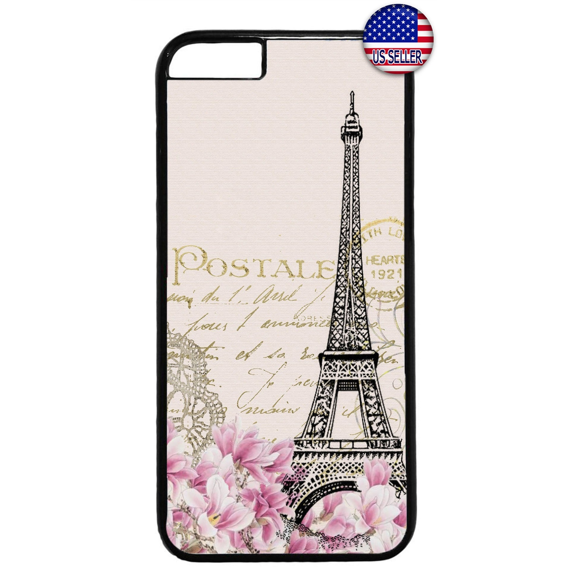 Vintage Eiffel Tower Rubber Case Cover For Iphone