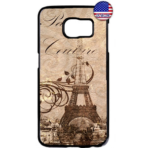 Postcard Eiffel Tower Paris France Rubber Case Cover For Samsung Galaxy
