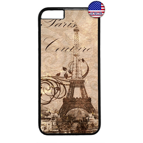 Postcard Eiffel Tower Paris France Rubber Case Cover For Iphone