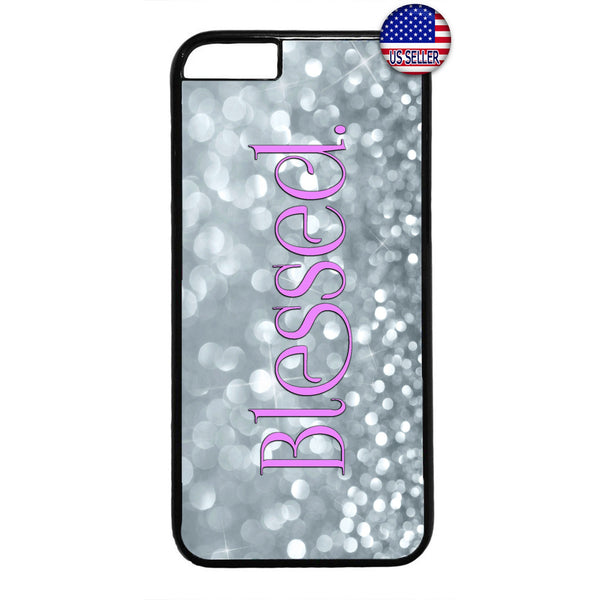 Blessed Shine Diamonds Rubber Case Cover For Iphone