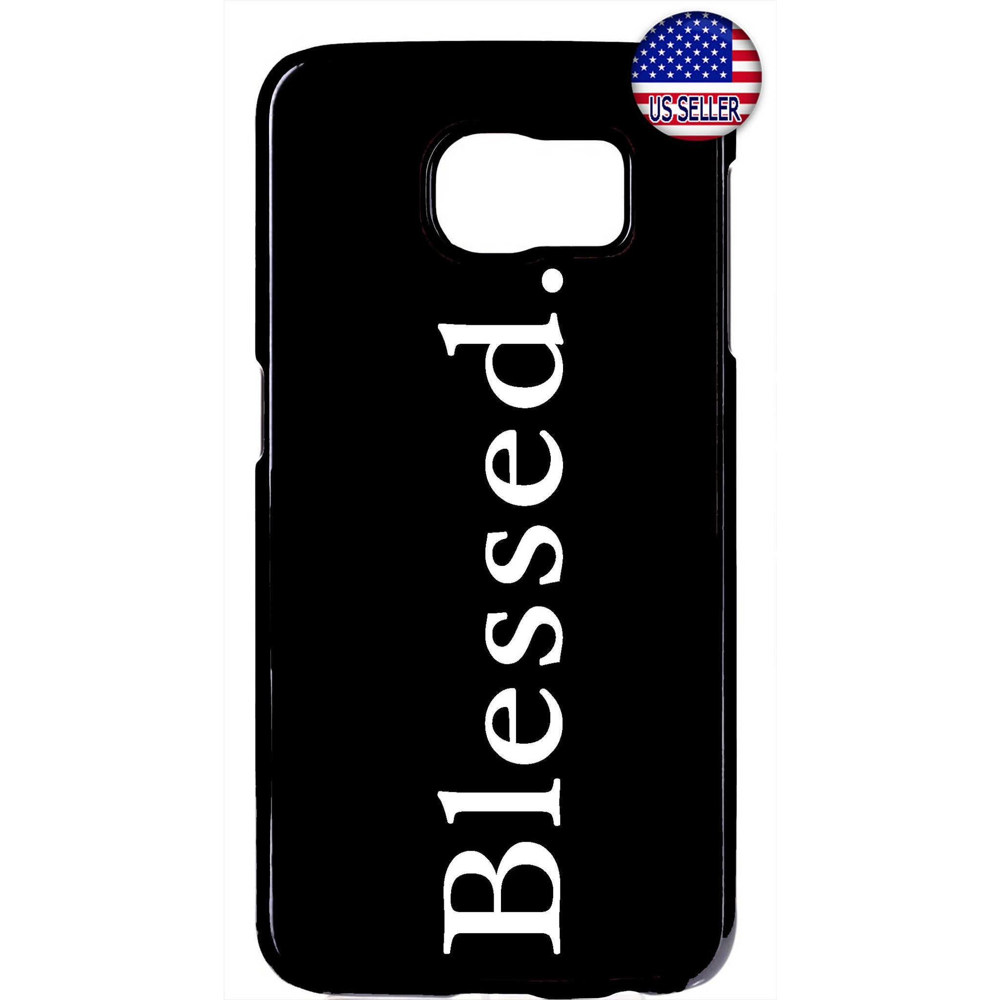 Blessed Christian Bible Quote Black Rubber Case Cover For Samsung Galaxy Note