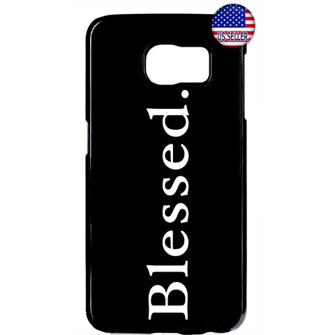 Blessed Christian Bible Quote Black Rubber Case Cover For Samsung Galaxy