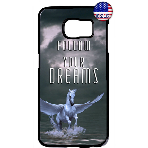 Pegasus Follow Your Dreams Rubber Case Cover For Samsung Galaxy