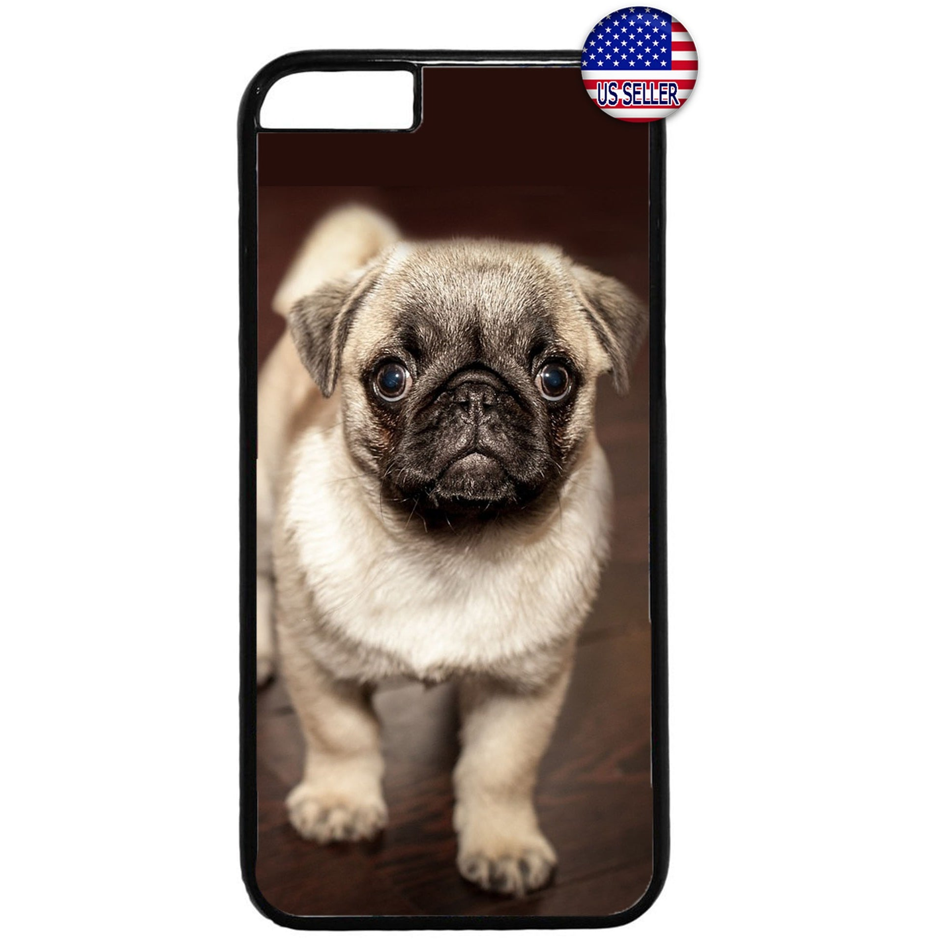 Cute Puppy Pug Pet Dog Animal Rubber Case Cover For Iphone