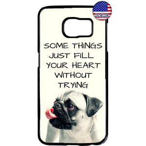 Puppy Pug Cute Pet Dog Animal Rubber Case Cover For Samsung Galaxy Note