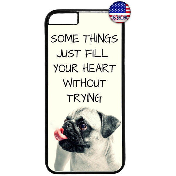 Puppy Pug Cute Pet Dog Animal Rubber Case Cover For Iphone