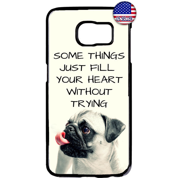 Puppy Pug Cute Pet Dog Animal Rubber Case Cover For Samsung Galaxy