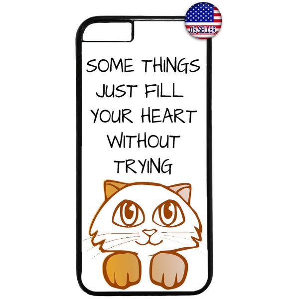Cute Kitten Cat Pet Paws Animal Rubber Case Cover For Iphone