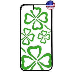 Clover Leaf Irish Luck Ireland St. Patrick's Day Rubber Case Cover For Iphone