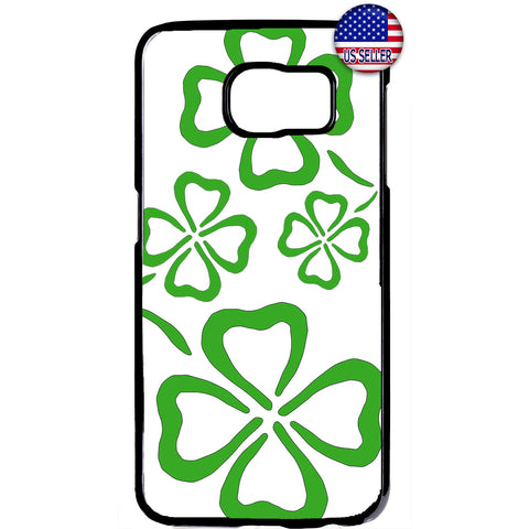 Clover Leaf Irish Luck Ireland St. Patrick's Day Rubber Case Cover For Samsung Galaxy