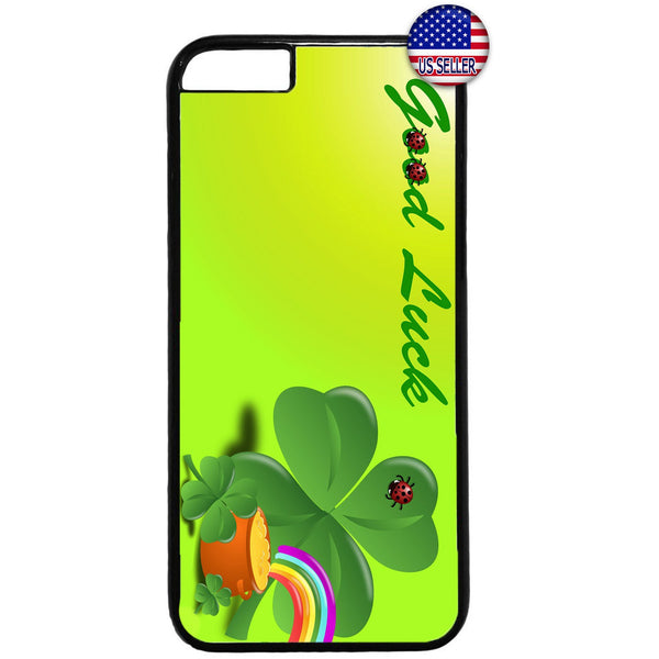 St. Patrick's Day Good Luck Gold Pot Irish Rubber Case Cover For Iphone