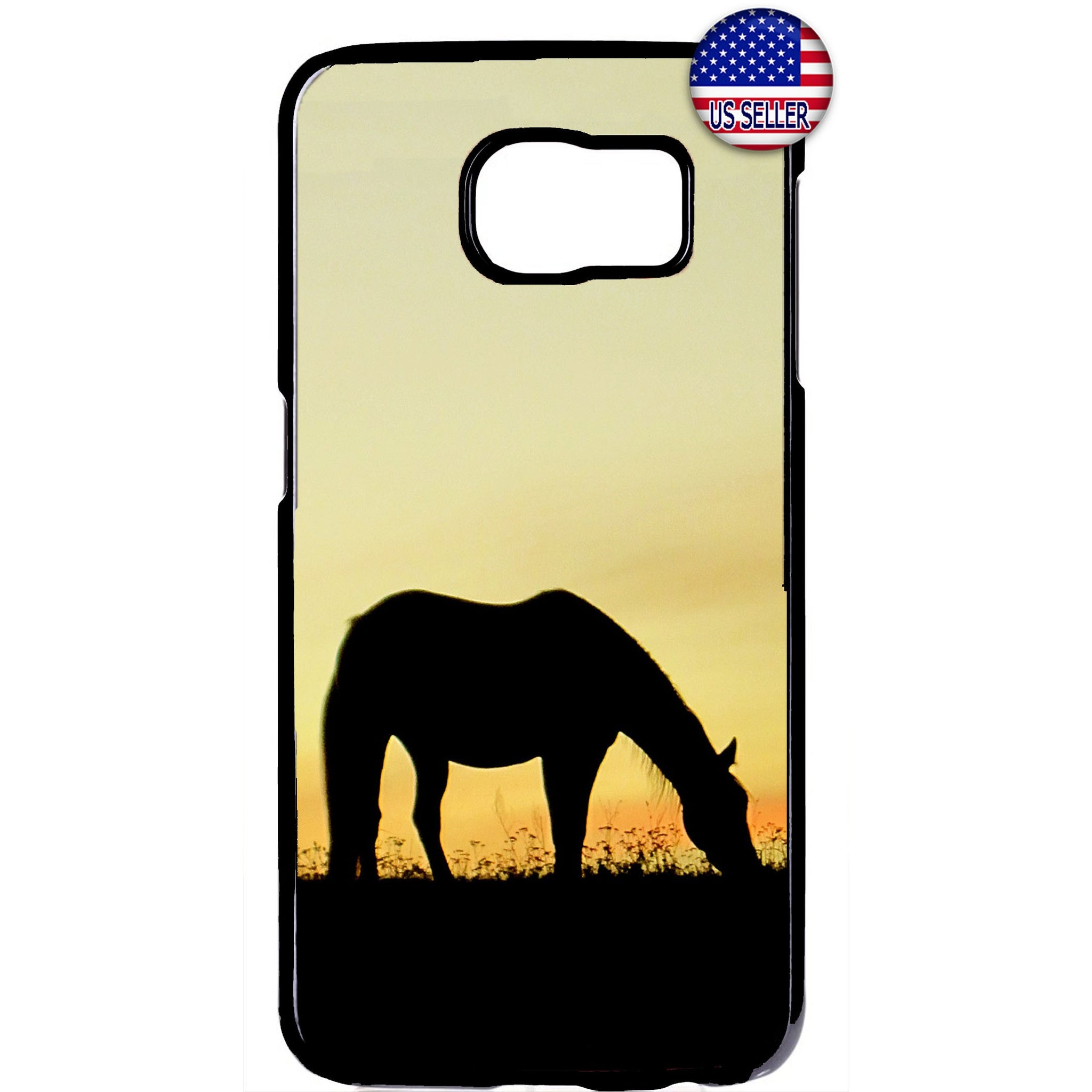 Horse Silhouette Farm Rubber Case Cover For Samsung Galaxy