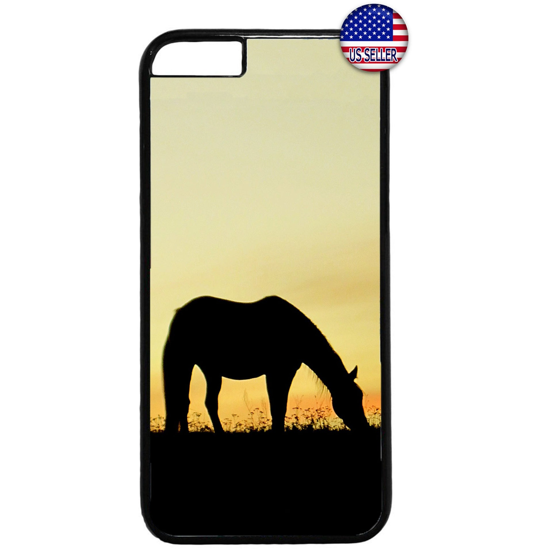 Horse Silhouette Farm Rubber Case Cover For Iphone