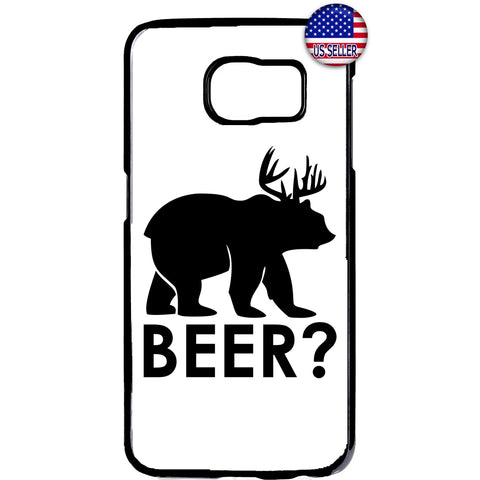 Funny Bear? Deer? Beer! Rubber Case Cover For Samsung Galaxy