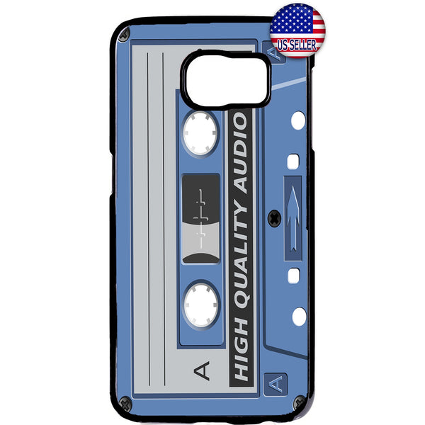Cassette Audio Old School Rubber Case Cover For Samsung Galaxy