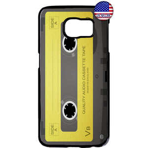 Old School Cassette Audio Rubber Case Cover For Samsung Galaxy Note
