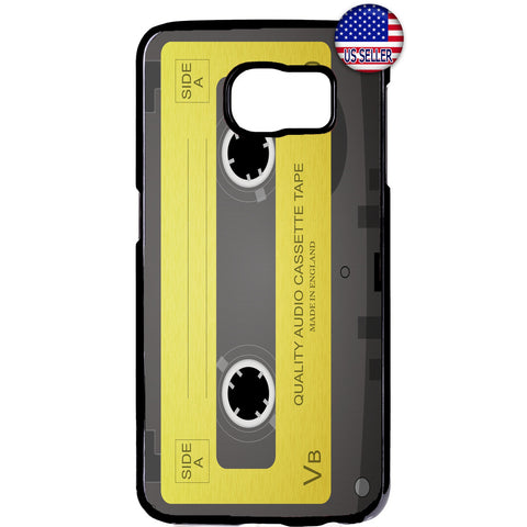 Old School Cassette Audio Rubber Case Cover For Samsung Galaxy