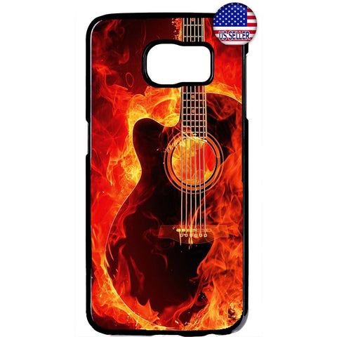 Music Flames Guitar Art Rubber Case Cover For Samsung Galaxy Note