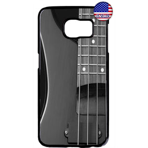 Gray Electric Guitar Rubber Case Cover For Samsung Galaxy