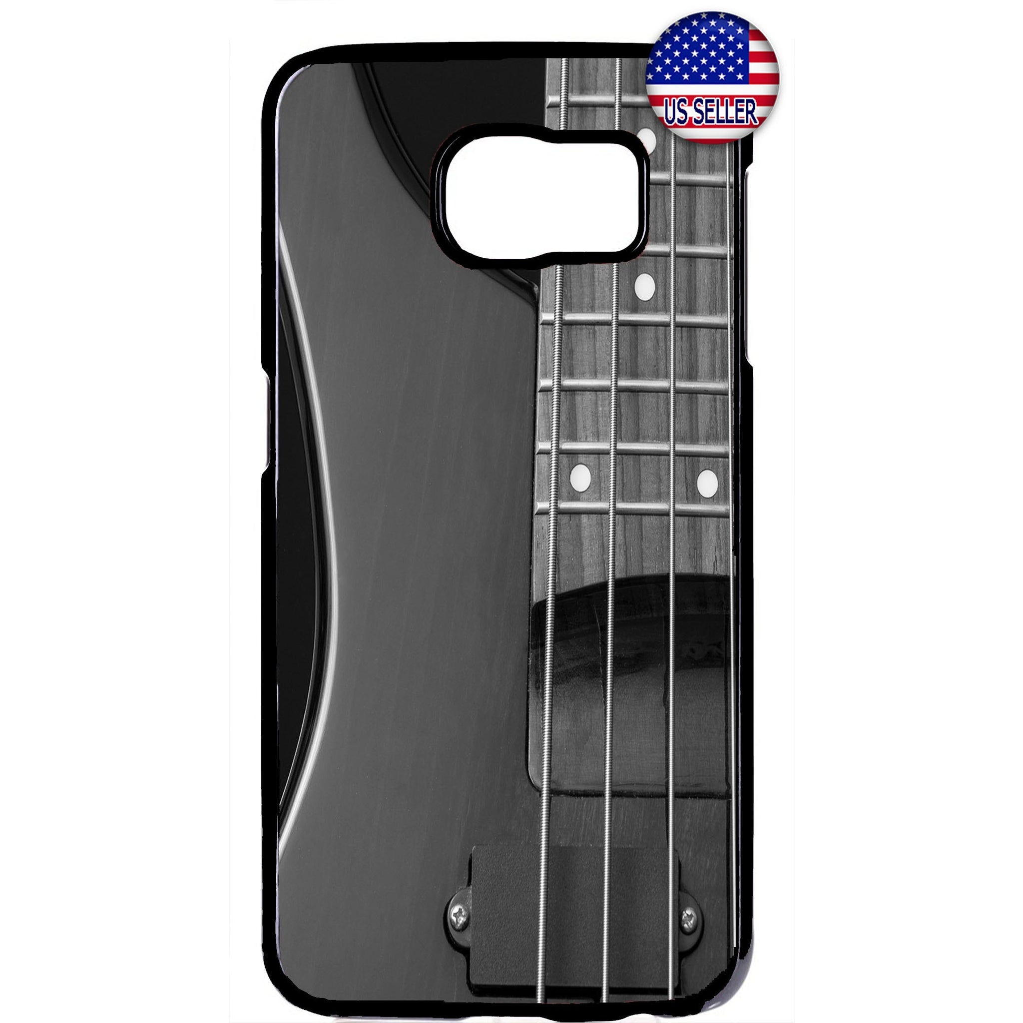 Gray Electric Guitar Rubber Case Cover For Samsung Galaxy Note