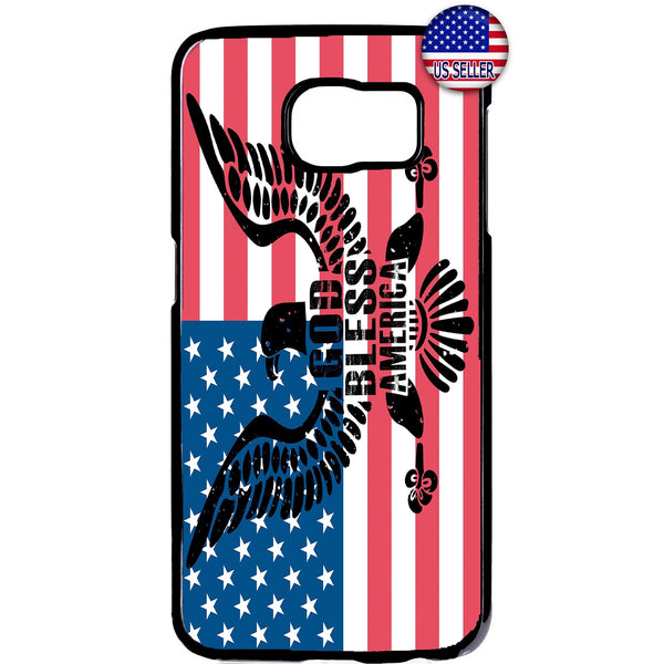 God Bless USA Flag Rubber Case Cover For Samsung Galaxy Note