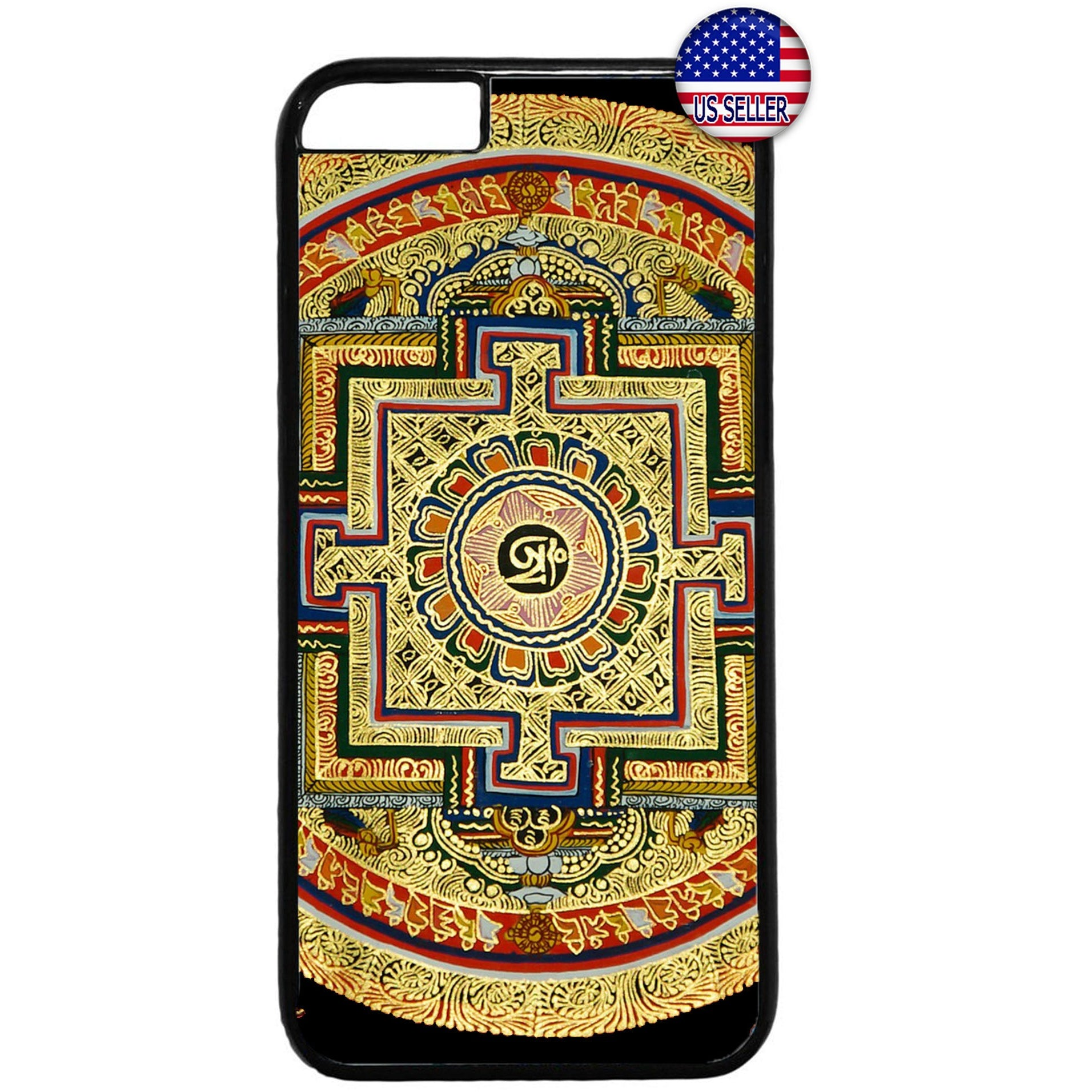 Spiritual Hindu Symbol Rubber Case Cover For Iphone