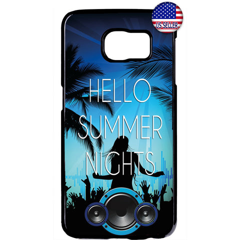 Hello Summer Nights Rubber Case Cover For Samsung Galaxy