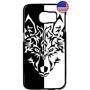 Fierce Wolf Teen Art Rubber Case Cover For Samsung Galaxy Note